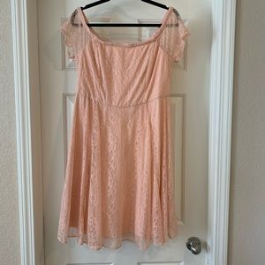 NWT Torrid 12 Peach Fit and Flare Dress